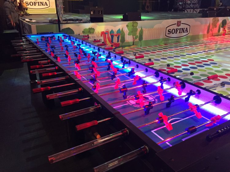 Giant LED Foosball Table