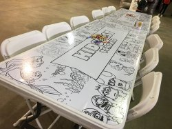 6ft Colouring Table with Custom Graphic