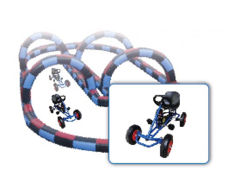 Pedal Karts with Track - 4 Karts