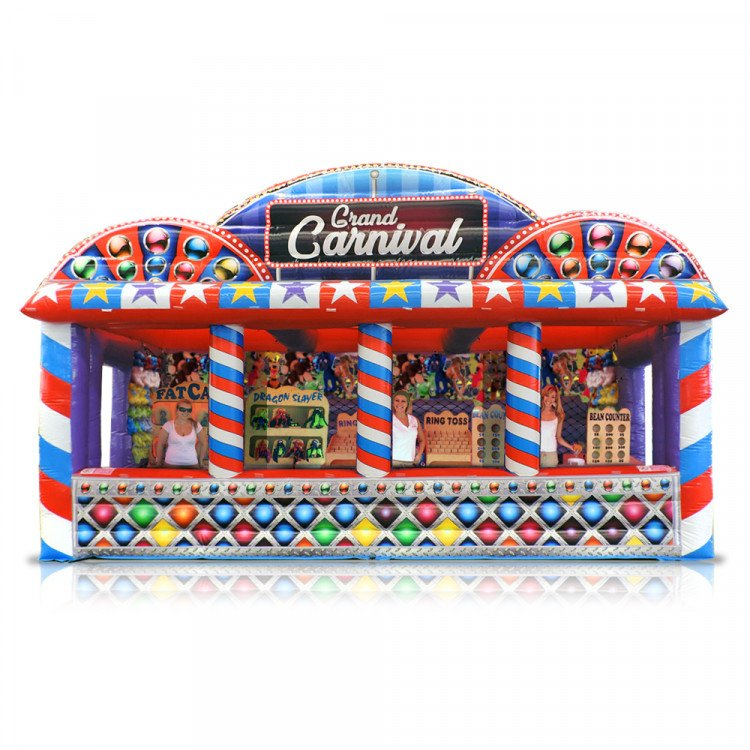 Grand Carnival Inflatable with Carnival Games