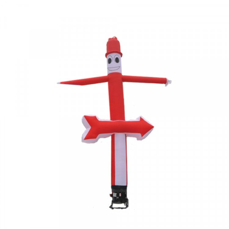 Sky Dancer - Red/White with Smiley Face