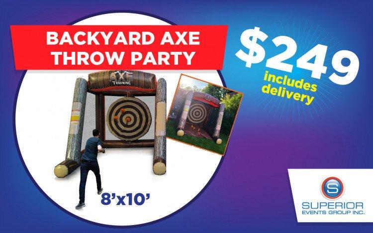 Back Yard Axe Throw Party