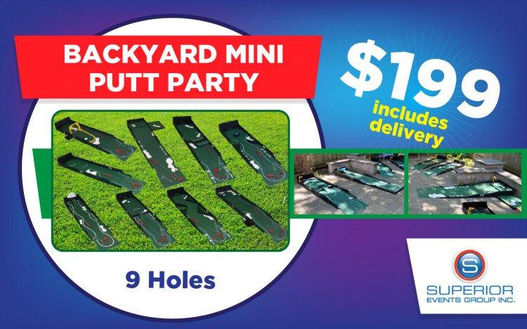 Backyard Mini Putt Party